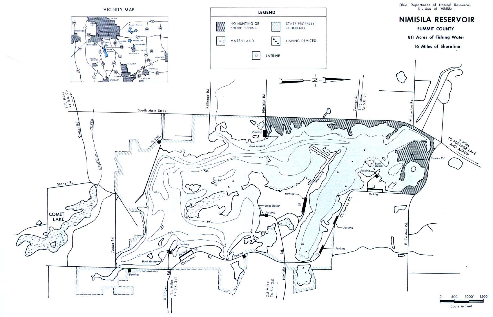Northeast Ohio Lake Maps