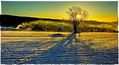 Sunrise above Kvilda