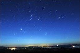 Night sky at Lipno lake