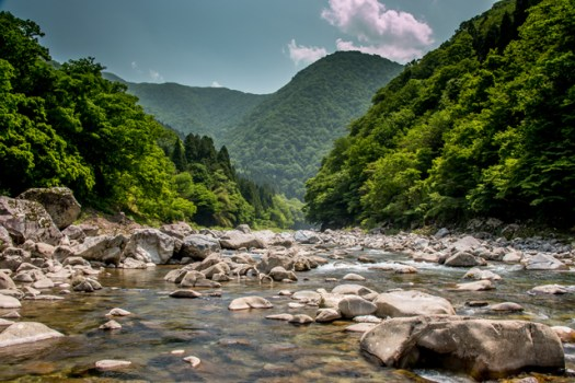 Mountain river in Japan