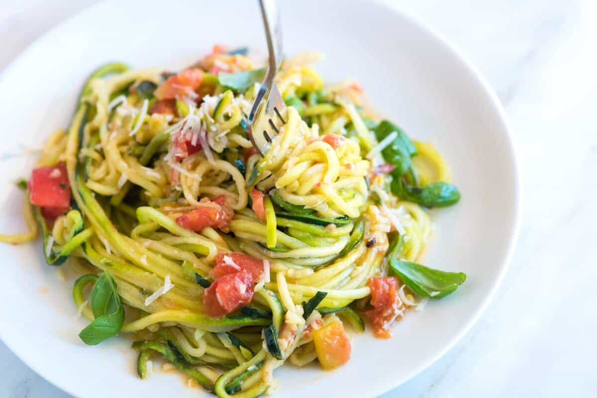 Zucchini Pasta - Healthy and Delicious