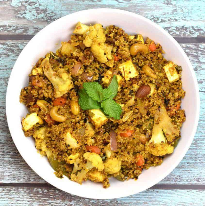 Cauliflower Quinoa Biryani