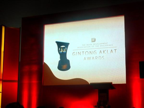 Gintong Aklat Award 2016