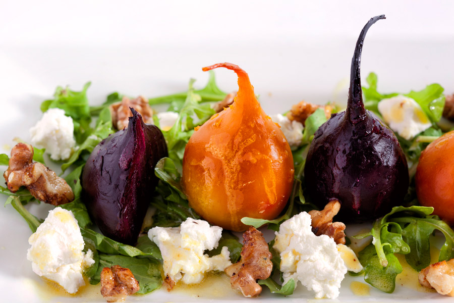 Roasted Baby Beet and Goat Cheese Salad