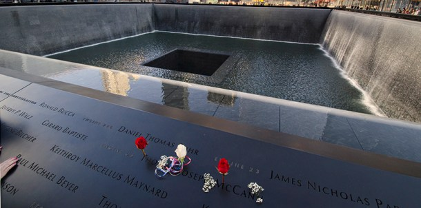 Ground Zero at the 9/11 Memorial Site. ©Thomas Brummett 2014 / All rights reserved