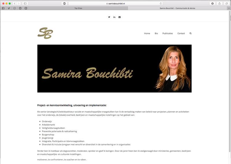 Website Samira Bouchibti