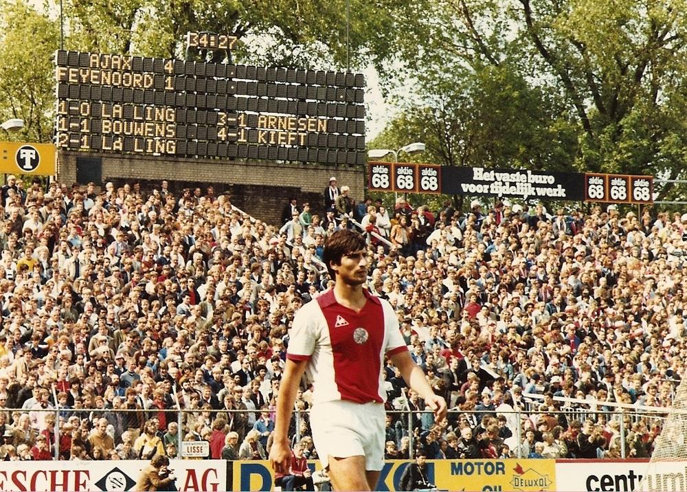 Tscheu la Ling in de Meer, Ajax-Feyenoord, mei 1980