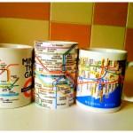 Koffiemok met metroplattegrond