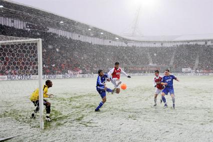 AZ-Ajax in winterse omstandigheden