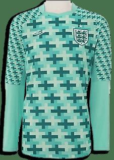 Het Engeland keeper shirt voor Euro2012