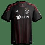 Ajax uitshirt zwart