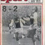 Voorpagina Parool - Ajax-Feyenoord 8-2