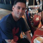 Messi aan het ontbijt met de Europa Cup