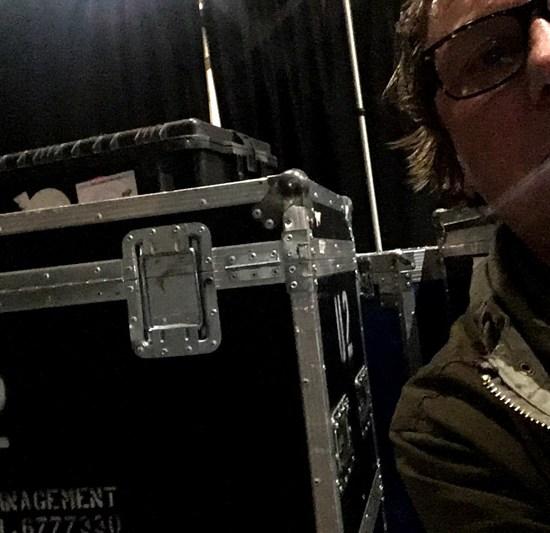 U2 backstage