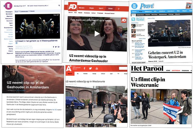U2 in de media