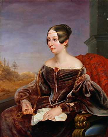 1837ca. Mathilde Gräfin Lynar by Eduard Magnus (location unknown to gogm)
