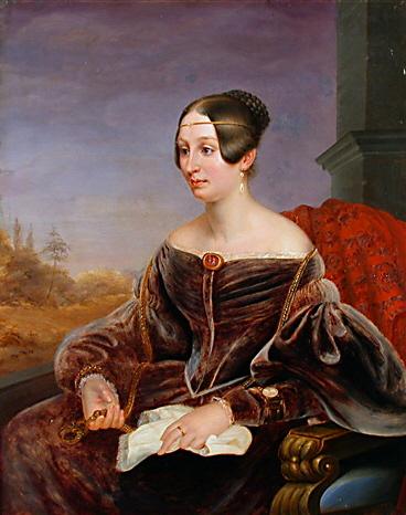 1837ca. Mathilde Gräfin Lynar by Eduard Magnus (location unknown to gogm)