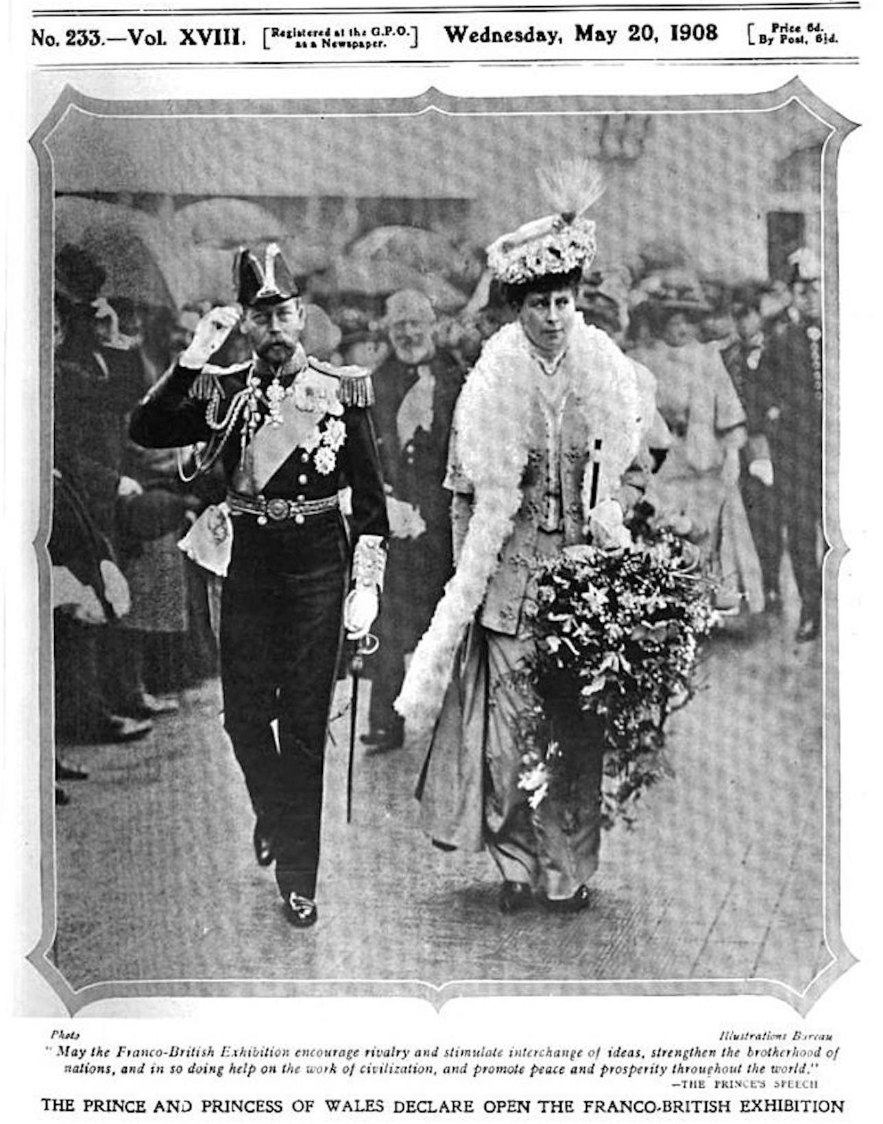 1908 Prince And Princess Of Wales Open Franco British