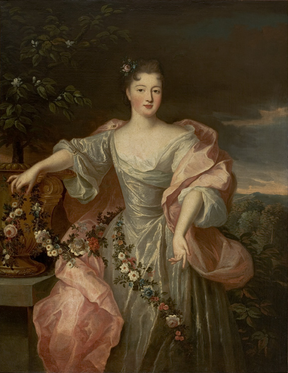 Ca 1720 Portrait Of A Bride With Flowers Charlotte Agla