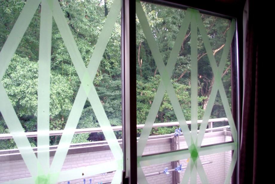 窓ガラスの保護