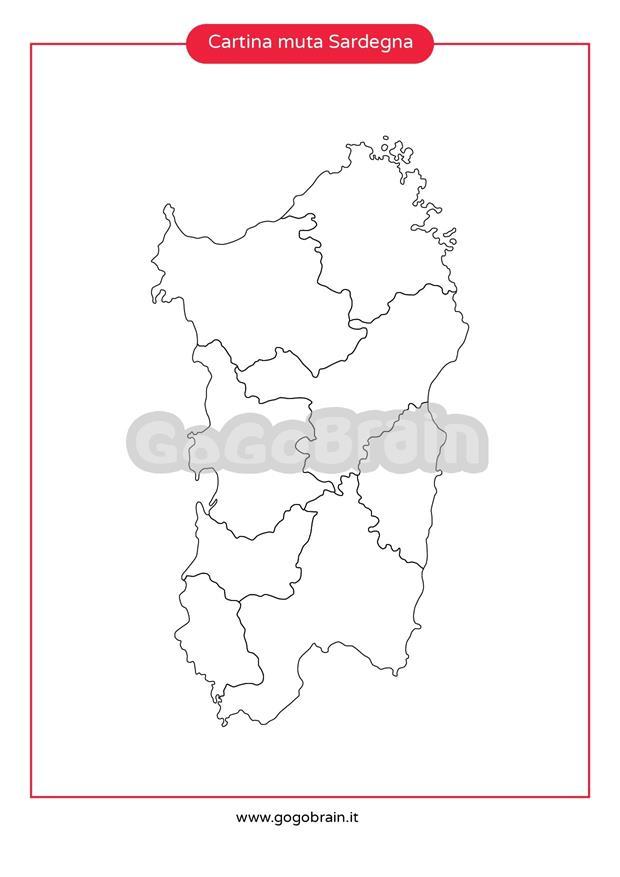 Cartina Sardegna Muta.Carta Muta Della Sardegna Gogobrain