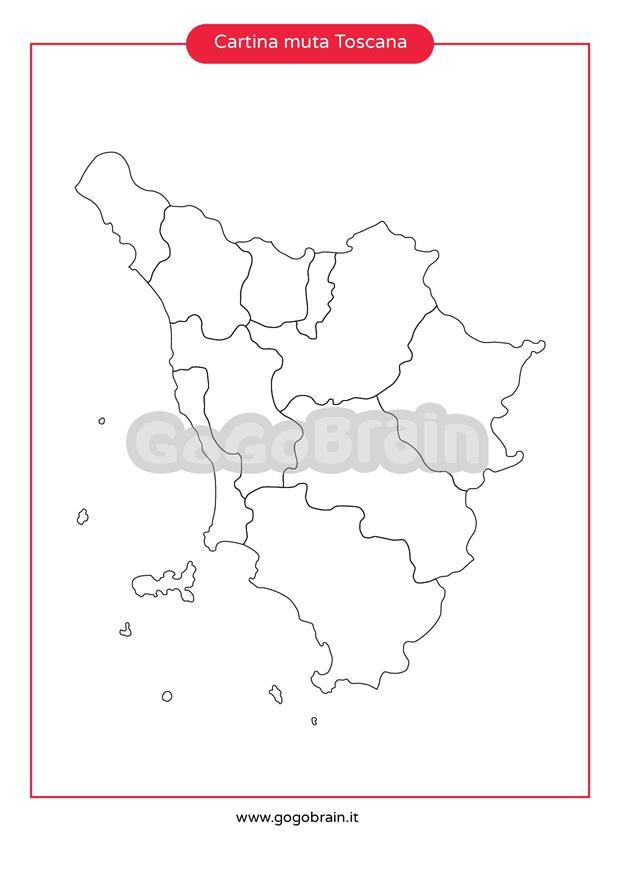 Toscana Cartina Muta.Carta Muta Della Toscana Gogobrain