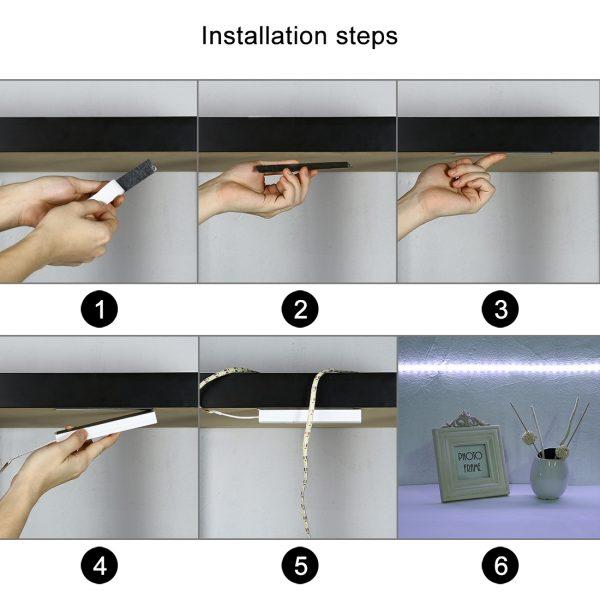 Nachtlicht LED Strip mit Infrarot Bewegungsmelder