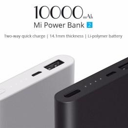 Xiaomi Power Bank 2 10000mAh Quick Charge 2.0