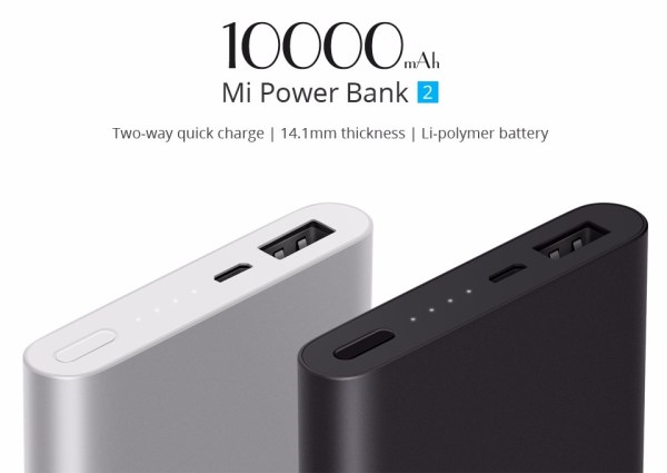 Xiaomi Power Bank 2 10000mAh Quick Charge 2.0