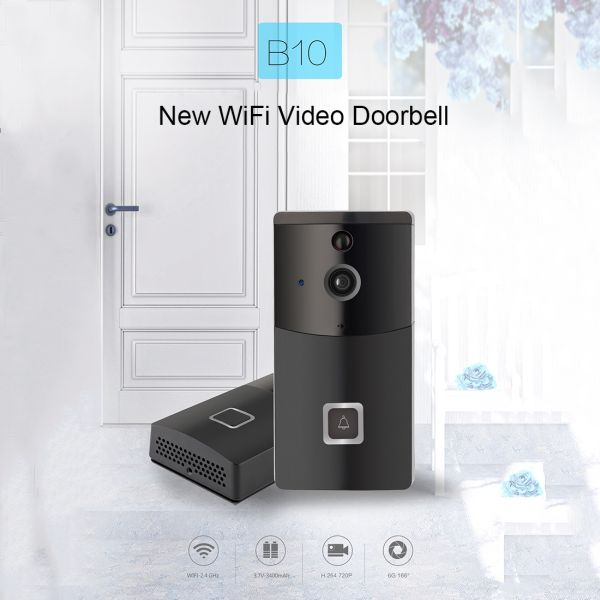 Intelligente Türklingel 2.4GHz Wireless 720P Video Intercom, PIR Erkennung / Nachtsicht / Handy APP