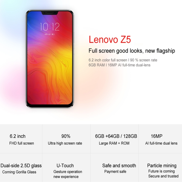 Lenovo Z5, 6GB+64GB