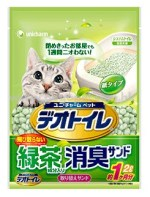 Unicharm 日本花王消臭大師 – 滲透式綠茶紙貓砂 2L