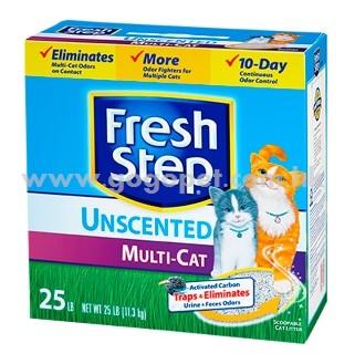 Fresh Step 菲麗思 特強效除臭結塊貓砂 (天然無香味) 25磅 (適合多貓家庭使用配方)