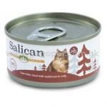 Salican森林罐 -白肉吞拿魚鯛魚啫喱貓罐頭 - 85g (啡) 主食罐