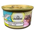 Grandee 無穀物 吞拿⿂+白⿂貓罐頭 80g