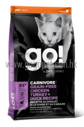 GO! Solutions CARNIVORE 活力營養系列 無穀物雞肉火雞鴨肉 go貓糧