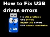 How to Fix USB drives errors