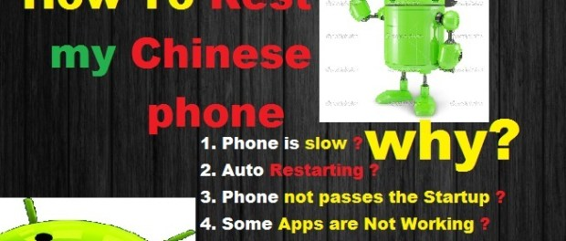 reset chinese android phone