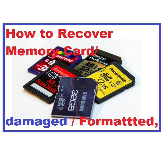 How to recover memory card using CMD