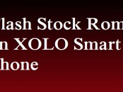 Flash Stock Rom on Xolo