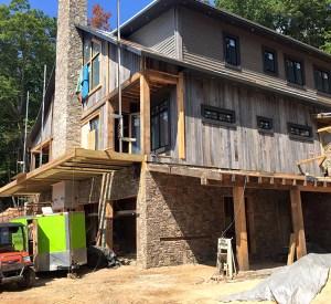 Go Green Spray Foam ready to work on house