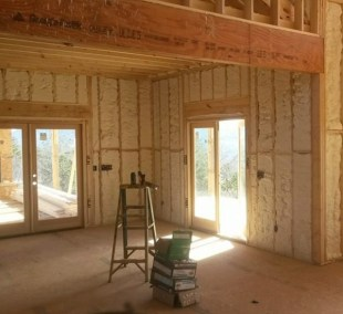 Finished walls in a home.