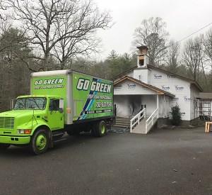 Go Green Spray Foam Truck by church