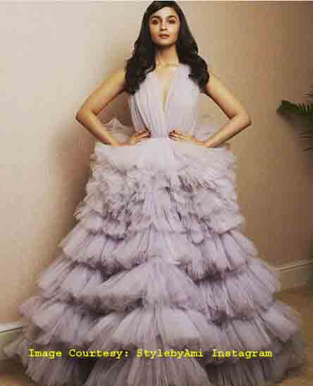 Alia Bhatt's red carpet look