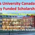 Queen's University Scholarships Canada 2021