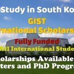 GIST International Scholarships