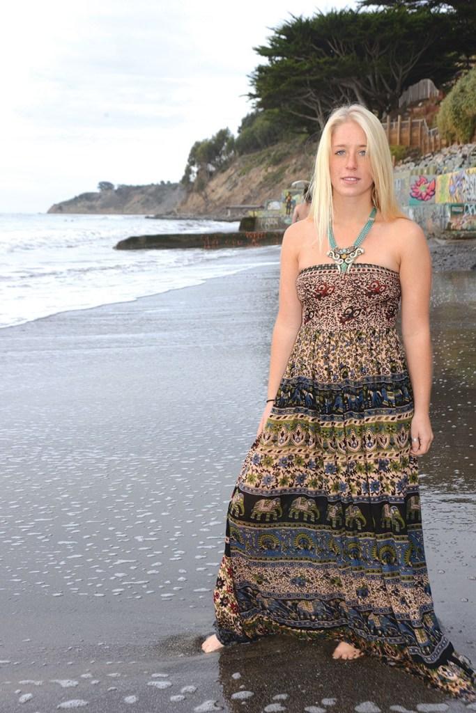 maxi hippie dress