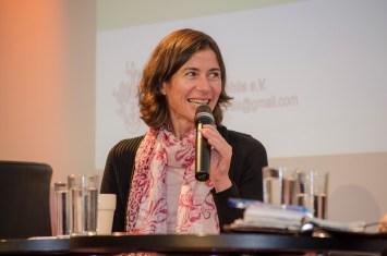 Birgit Glorius, Technische Universität Chemnitz, bei der Podiumsdiskussion