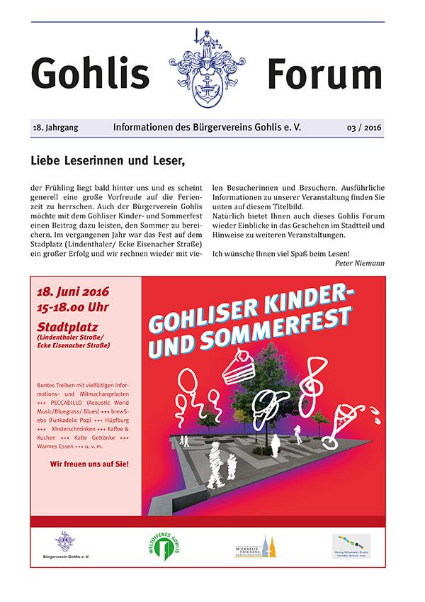 Gohlis Forum 03/2016