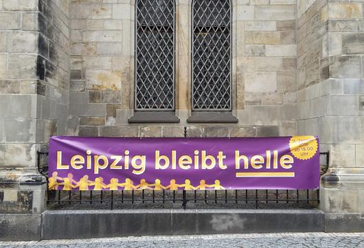 lichterkette 11.01.2016; Foto: © Stadt Leipzig / Therese Jonas